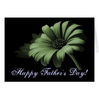 Margarida verde empoeirada do dia dos pais feliz V Cartão Comemorativo
