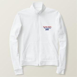 Margem Paul para a camisa do branco do presidente Agasalho Jogger De Lã Bordado