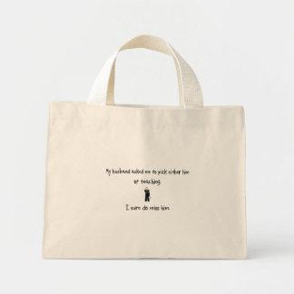 Marido da picareta ou ensino bolsas de lona