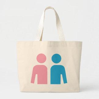 Marido e esposa bolsa para compra