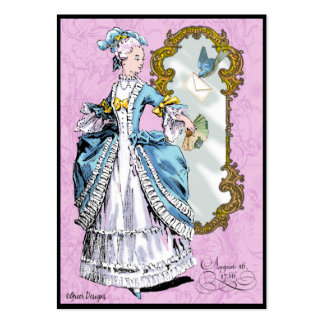 Marie Antoinette & Bluebird Cartão De Visita Grande