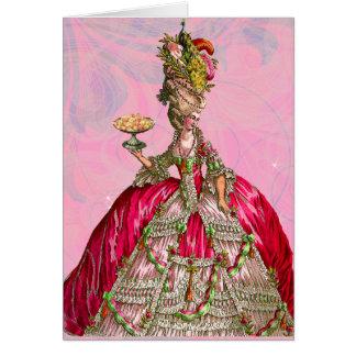 Marie Antoinette deixou-os comer o bolo Cartao