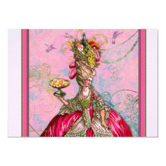 Marie Antoinette deixou-os comer o bolo Convite 11.30 X 15.87cm