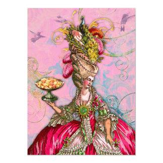 Marie Antoinette deixou-os comer o bolo Convite 13.97 X 19.05cm