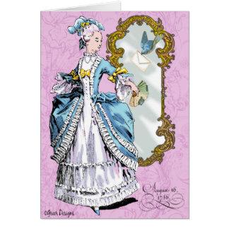 Marie Antoinette e Bluebird Cartão Comemorativo