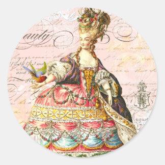 Marie Antoinette e Paris cor-de-rosa Adesivo