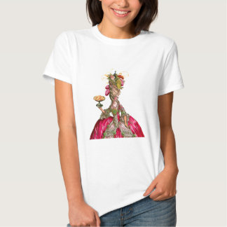 Marie Antoinette e pavão Tshirts