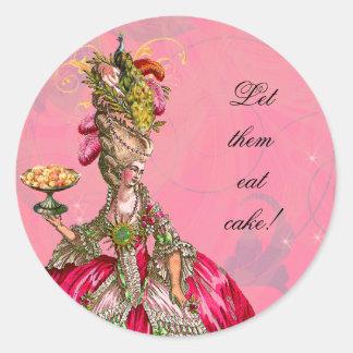 Marie Antoinette & etiquetas da pastelaria Adesivo Em Formato Redondo