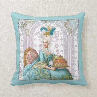 Marie Antoinette no Aqua com bolo Travesseiros