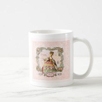 Marie Antoinette no rosa Caneca
