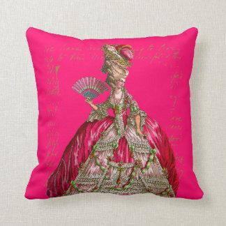 Marie Antoinette no tea party de Versalhes Travesseiro De Decoração