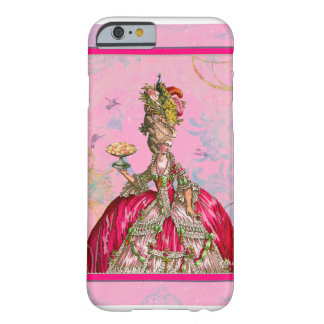 Marie Antoinette & pavão Capa Barely There Para iPhone 6