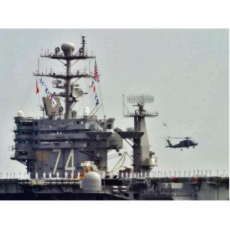 Marinheiros do marinho dos navios dos helicópteros esculturafotos