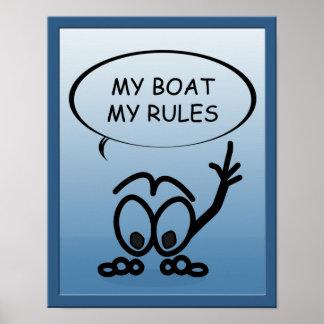 Marinheiros do veleiro meu barco meu poster