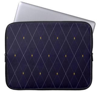 Marinho brilhante Argyle do diamante Capas De Computadores Notebooks