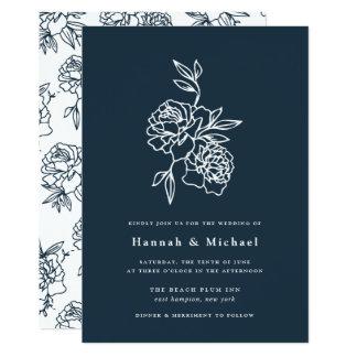 Marinho do convite | do casamento do jardim