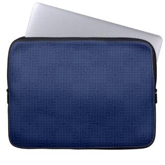 Marinho moderno - costume do teste padrão do bolsa e capa de notebook