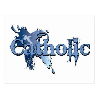 Marinho transversal gótico católico cartão postal