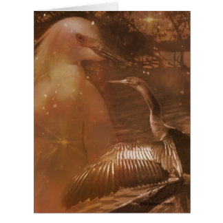 Marismas - parque nacional em Florida Cartão Comemorativo Grande