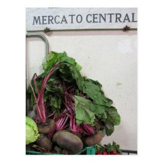 Market central Florença Cartão Postal