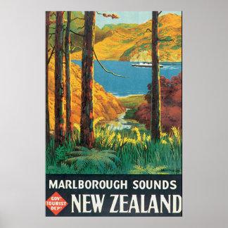 Marlborough soa o poster das viagens vintage pôster