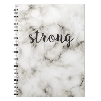 Mármore forte cadernos espiral