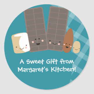 marshmallows do fazer dos doces do kawaii que adesivos redondos