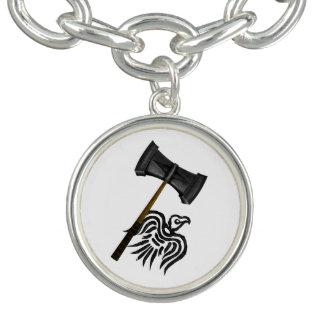 Martelo da batalha de Viking do Thor Braceletes Com Charms