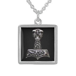 martelo do thor colar de prata esterlina