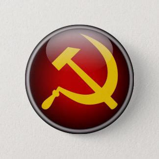 Martelo e foice soviéticos do russo bóton redondo 5.08cm