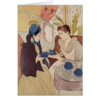 Mary Cassatt: A visita Cartão Comemorativo