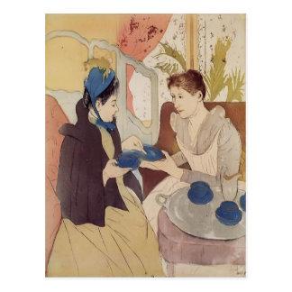 Mary Cassatt: A visita Cartão Postal