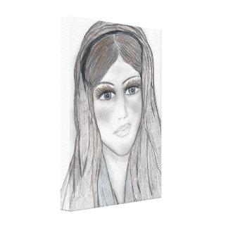 Mary delicada impressão em tela