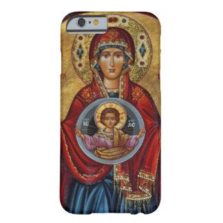 Mary do século XV icónica com criança do cristo Capa Barely There Para iPhone 6