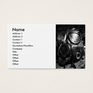 Máscara de gás cartão de visitas