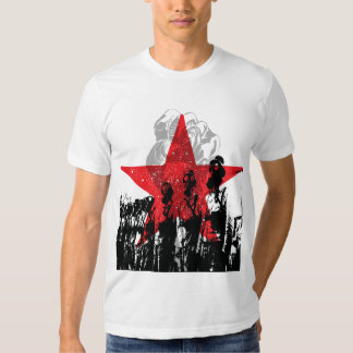 Máscara de gás vermelha da estrela! T-shirt de