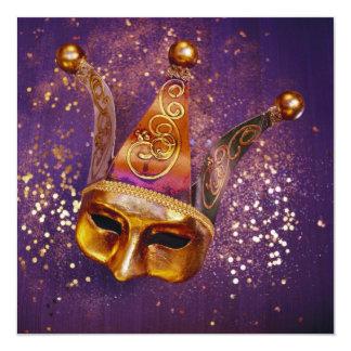 Máscara decorativa do partido convite