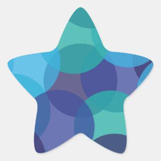 Máscaras do azul do verde adesivos em forma de estrelas
