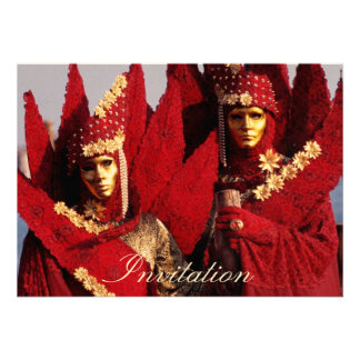 Máscaras do carnaval convite personalizados