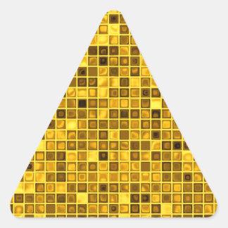 """Máscaras do teste padrão """"aquoso"""" Goldenrod dos Adesivo Em Forma De Triângulo"""