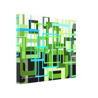 Máscaras do verde por Alexandra Impressão Em Tela