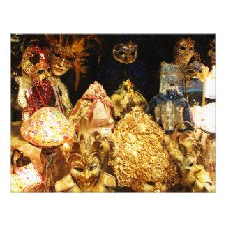 Máscaras Venetian do carnaval - Veneza, Italia Convite Personalizados