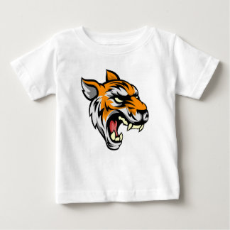 Mascote animal média do tigre t-shirt