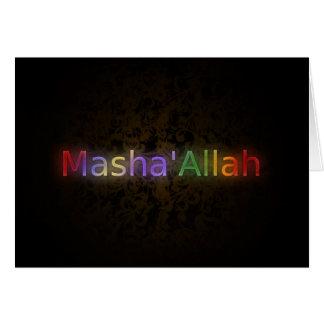 MashaAllah - frase islâmica - cumprimentos Cartão Comemorativo