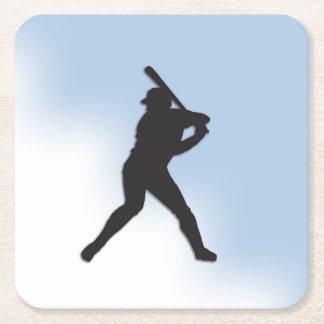Massa do basebol acima porta-copo de papel quadrado