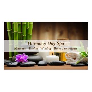 Massagem de bambu dos termas do zen do óleo da cartão de visita