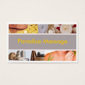 Massagem do paraíso cartão de visitas