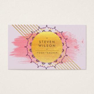 Massagem holística da meditação da mandala do cartão de visitas
