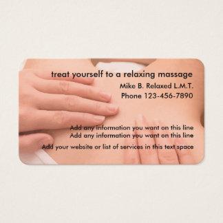 Massagem profissional Thereapist Cartão De Visitas