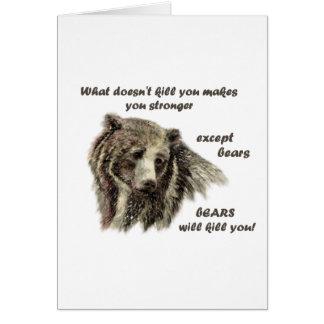 Matar dos ursos de Engraçado De Inspirador Citação Cartão Comemorativo